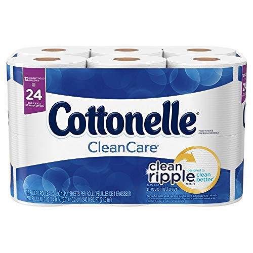 Cottonelle Clean Care Toilet Paper, Double Roll, 24 Rolls, P