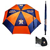 "Team Golf MLB 62"" Golf Umbrella with Protective Sheath, Double Canopy Wind Protection Design, Auto Open Button"