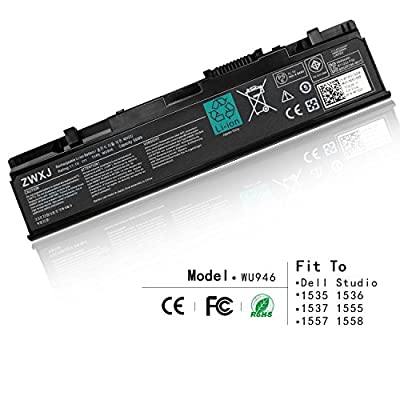 ZWXJ Laptop Battery TYPE WU946?11.1V 56WH ?For Dell Studio 1535 1536 1537 1555 1557 1558 312-0701 WU946