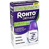 Rohto Dry-Aid Lubricant Eye Drops, 2x10mL Bottles