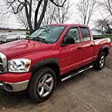 OxGord Fender Flares Compatible with 02-08 Dodge