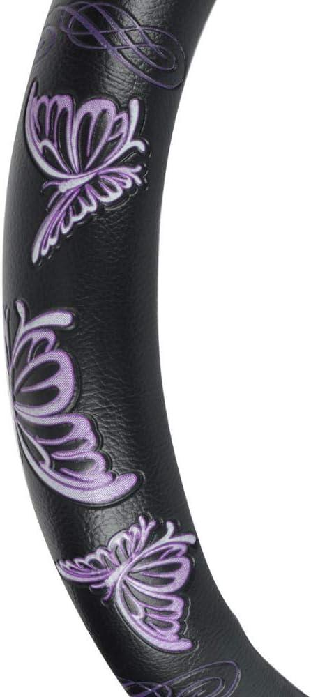BDK Comfort Grip Steering Wheel Cover by BDK Rubber Butterfly Purple