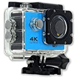 4K Ultra HD Action Camera with Wifi,Sports Action Cam By GT ROAD,Waterproof 98 Feet(30mxFF09;+170° Wide Angle Lens+2.0 Inch LCD Screen(blue)