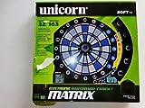 Used Unicorn Electronic Dartboard Cabinet Red/Blue/White Darts