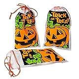 Halloween Trick Or Treat Drawstring Pumpkin Mini Goody Bags (144) by RINCO