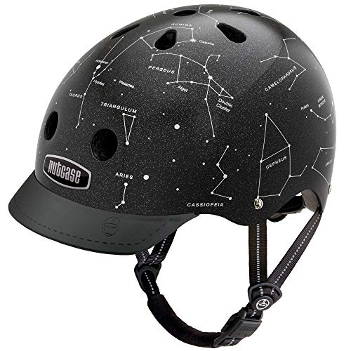 Nutcase - Patterned Street Bike Helmet for Adults, Constellations, Small