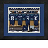 San Diego Padres Personalized MLB Baseball Locker Room Jersey Framed Print 14x18 Inches