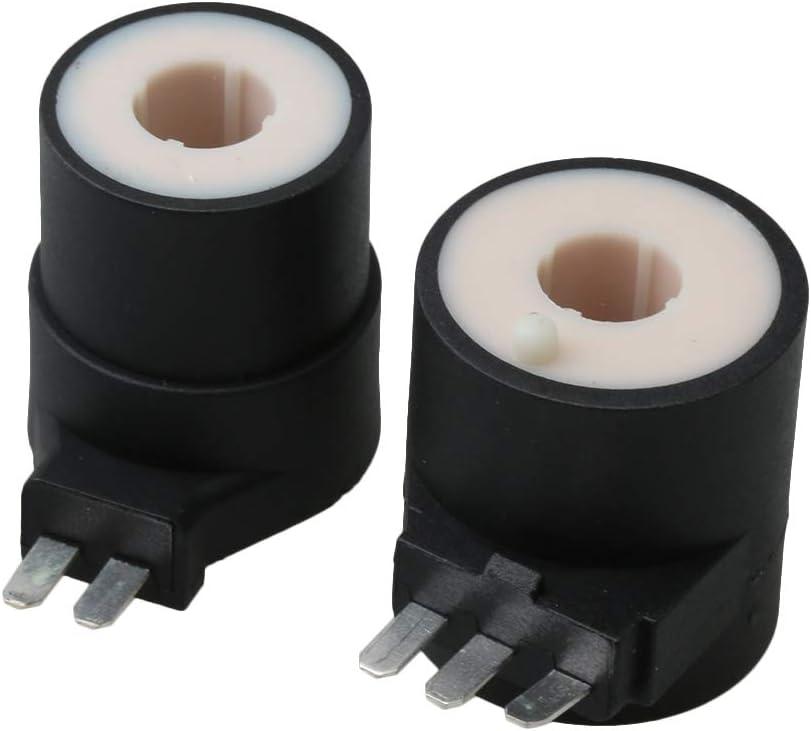 RDEXP 279834 - Bobina de electroválvula de Gas para Secadora de Color Negro para 279834 Sustituye a 12001349 14201336 14201452