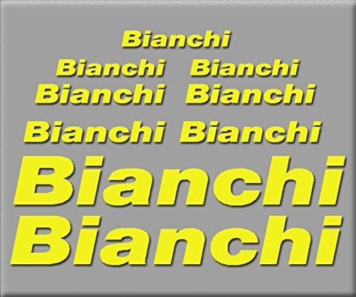 Ecoshirt 2K-F9HN-OA3B Adesivi Bianchi R241 Vinile Adesivi Decal Aufkleber К    MTB Stickers Bike Giallo