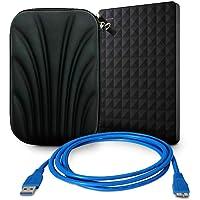 "Seagate Kit Disco Duro Externo STEA1000400 1 TB 5400 RPM + Funda 2.5"" Estuche Protector Negro + Cable USB V3.0 A-Microb (M) 1.0 MTS"