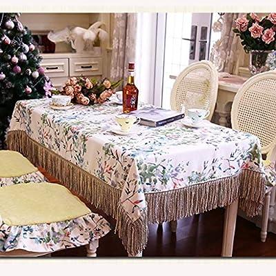 XXFFD Mantel de algodón Mantel Borla Mantel Mosaico Mantel Cocina ...