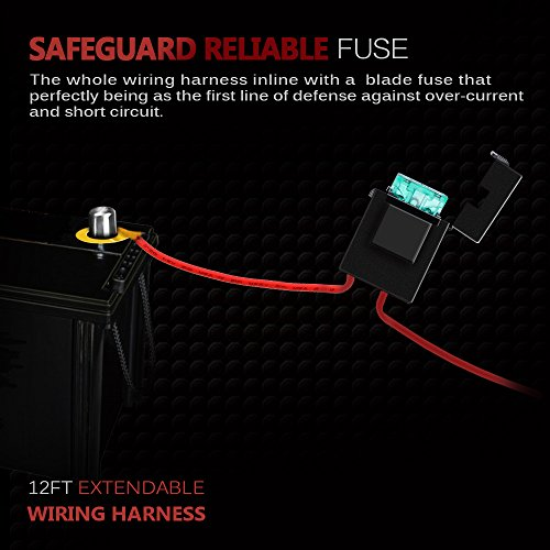 Mictuning led light bar wiring harness fuse a relay on