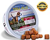 Extra Strength Cranberry Chews for Dogs + PROBIOTICS   For Bladder and Kidney Support   Prevents Painful UTI   Digestive Enzymes for Dogs   Low Allergen   Low Calorie   Sodium Free   Organic