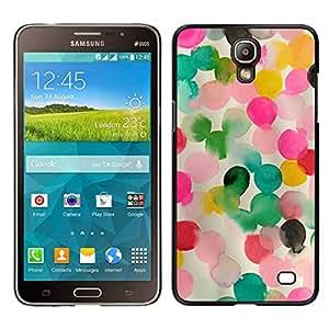Caucho caso de Shell duro de la cubierta de accesorios de protección BY RAYDREAMMM - Samsung Galaxy Mega 2 - Rosa Madre Niños mamá Niño