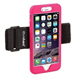 TuneBand for iPhone 6 Plus and iPhone 6S Plus, Premium Sports Armband with Two Straps and Two Screen Protectors, Pink