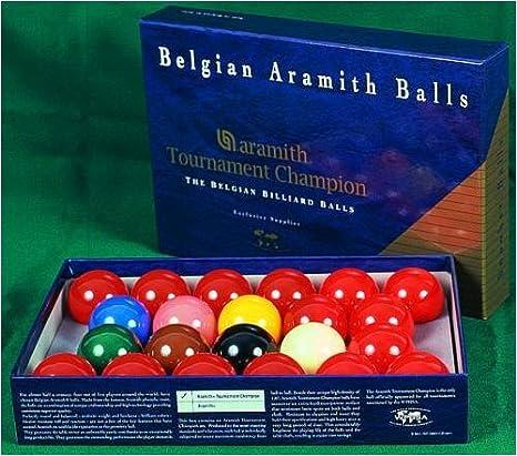 Bola de billar Aramith Tournament juego TV 52,4 mm: Amazon.es: Deportes y aire libre