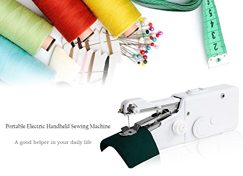 Mini Portable Handheld Sewing Machine - Needlework Cordless Clothes Fabrics Sewing Machines Stitch Set For Home Use - Sewing Machine - Sewing Kit - Portable Sewing Machine-Singer Sewing Machine