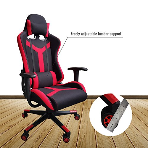 51NXzuQlQNL - IDS-Online-Excecutive-Modern-Red-Fabric-Gaming-Racing-Office-Chair