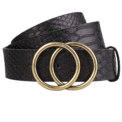 - Trendy Black Belt Women, Circle O Ring Belt Cintos Para Mujer by Maylisacc