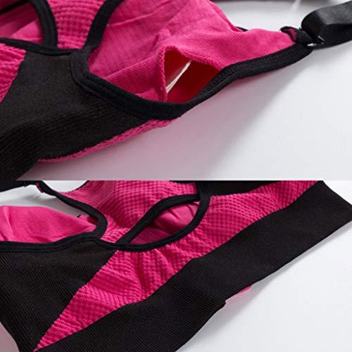 Dimpleya Anti Para Yoga Ajustable Con Acero Antibalas Sin Anillo Funciona De Sujetador Mujer bluerose Que Deportivo m Moda expansión Deportes a8xBrwa
