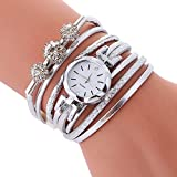 Kiminana watch,❤️◕‿◕❤️Diamond-encrusted personality winding around the bracelet watch(US Stock)