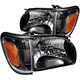 SHAREWIN Replacement For Tacoma 2001 2002 2003 2004 Headlights Headlamp Assembly Black Housing Amber Reflector…
