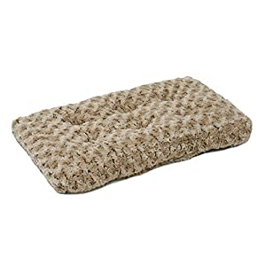 MidWest Homes for Pets Plush Pet Bed | Ombré Swirl Dog Bed & Cat Bed | Mocha 23L x 17W x 1.75H -Inches for Small Dog Breeds