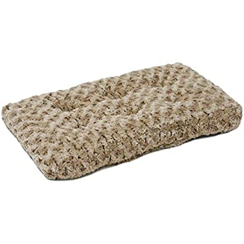Plush Pet Bed | Ombré Swirl Dog Bed & Cat Bed | Mocha 23L x 18W x 1.75H -Inches for Small Dog Breeds