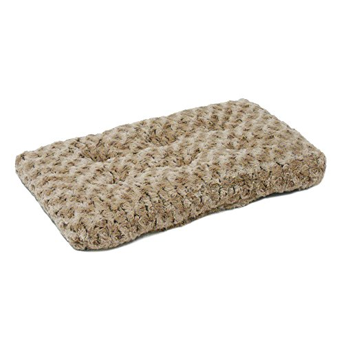 Plush Pet Bed | Ombré Swirl Dog Bed & Cat Bed | Mocha 23L x 18W x 1.75H -Inches for Small Dog -