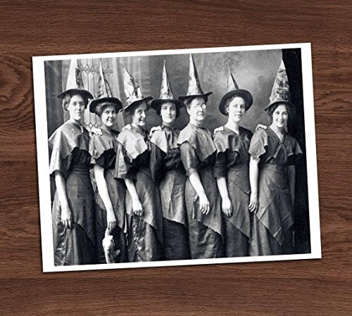 Witches Photo Vintage Art Print - 8x10 Wall Art - Halloween Costumes -