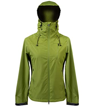 b23e75d90 Women's Commuter Jacket EcoRepel All Weather Windbreaker Raincoat (X-Large)  Green
