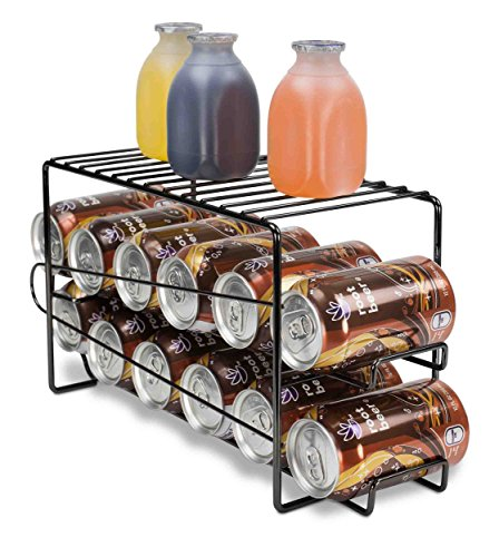 Home Basics Soda Can Beverage Dispenser Rack for Cabinet, Pa