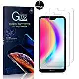 Huawei P20 Lite Screen Protector, Bear Village® Tempered Glass Screen Protector [Lifetime Warranty], HD Screen Protector Glass for Huawei P20 Lite - 2 PACK