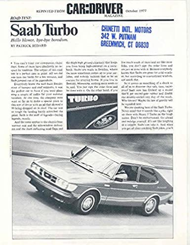 1978 Saab Turbo Sales Brochure