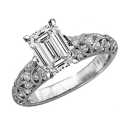 0.75 Ct Emerald Cut Diamond - 1