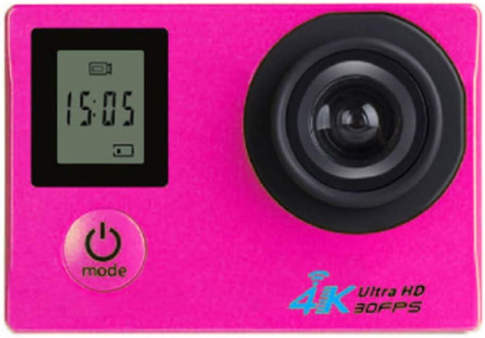XRQ Cámara Deportiva HD Pantalla Dual 4K HD Deportes de Buceo al Aire Libre Cámara DV cámara integrada máquina 8 Millones de píxeles Material ABS Pantalla LCD de 2.0 Pulgadas,Rosado: Amazon.es: Hogar