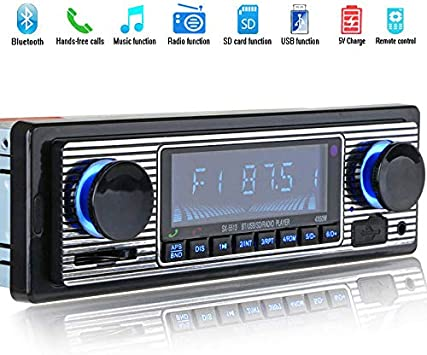 OUYAWEI Bluetooth Vintage Car Radio MP3 Player Stereo USB AUX Classic Car Stereo Audio