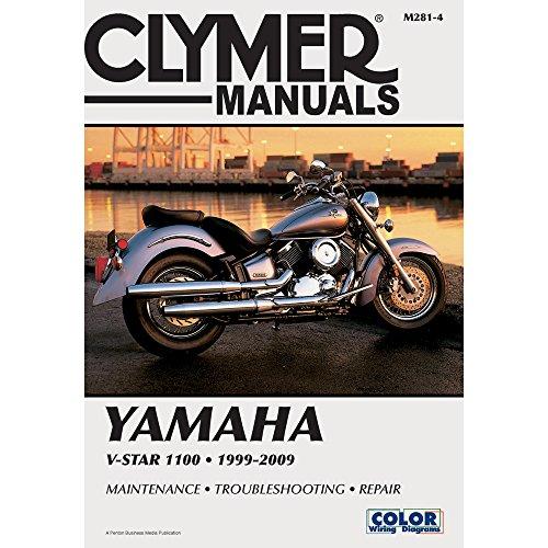 1999-2009 Yamaha V-STAR 1100 CLYMER MANUAL YAMAHA V-STAR 1100 1999-2009, Manufacturer: CLYMER, Manufacturer Part Number: M2814-AD, Stock Photo - Actual parts may vary.