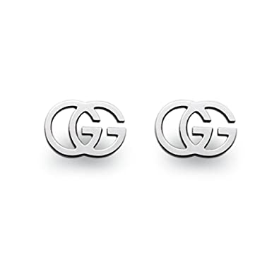 Image Unavailable. Image not available for. Color  GUCCI GG TISSUE white  gold 18kt earrings YBD094074001 be2e45c846