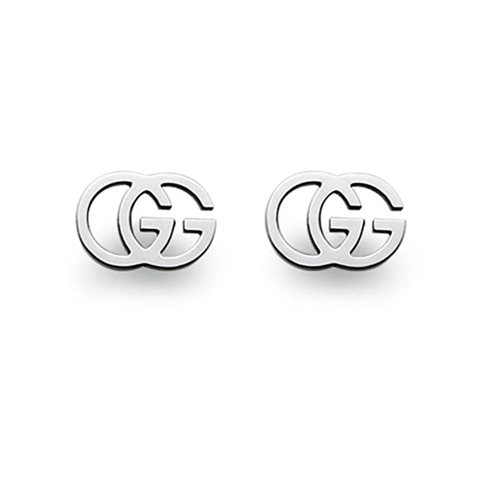 af4033679 Amazon.com: GUCCI GG TISSUE white gold 18kt earrings YBD094074001: Jewelry  Products: Jewelry