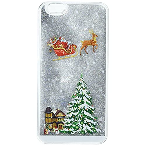 iphone 7 case 47 inch cinocase 3d creative liquid case christmas collection flowing quicksand moving stars bling glitter snowflake christmas tree santa