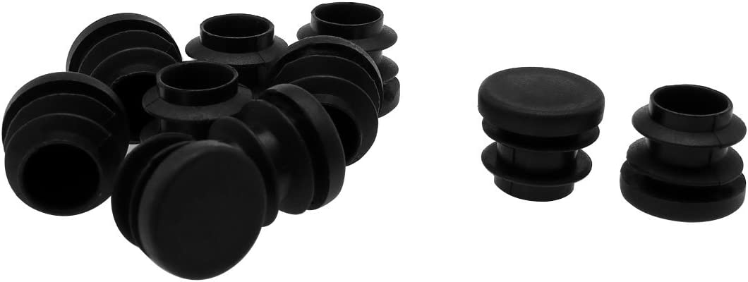 0.51-0.6 Inner Dia uxcell 5//8 16mm OD Plastic Round Tube Ribbed Inserts End Cover Caps 10pcs Floor Furniture Chair Desk Protector