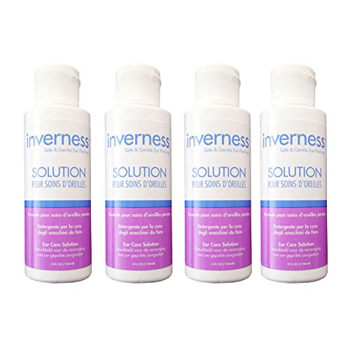 INVERNESS After Piercing Ear Care Solution 4 oz 4 pc Set