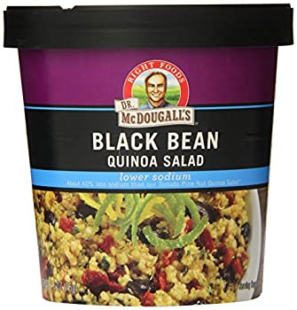 Dr. Mcdougall's Right Foods Lower Sodium Bean Quinoa Salad, Black, 2.6 Ounce (Pack Of 6) 0