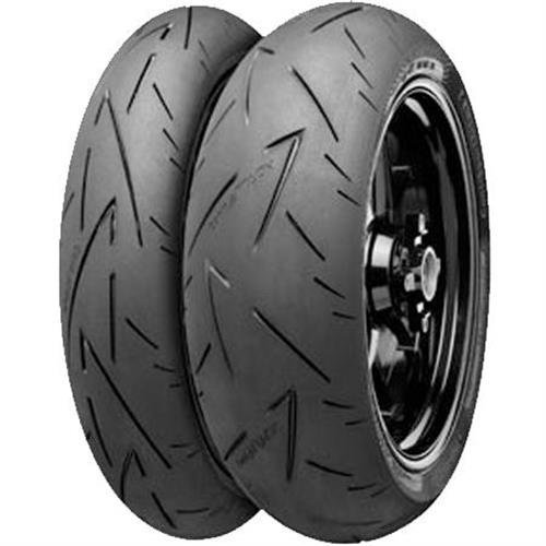Continental Conti Sport Attack 2 Tire - Rear - 180/55ZR-17 , Position: Rear, Tire Size: 180/55-17, Rim Size: 17, Load Rating: 73, Speed Rating: (W), Tire Type: Street, Tire Construction: Radial, Tire Application: Race 02440110000 by Continental