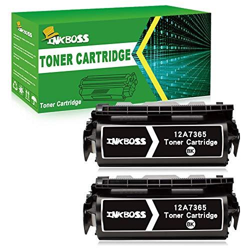 InkBoss 2 Black High Yield Toner Cartridge Compatible for Lexmark Optra 12A7365 Printer Toner Cartridge