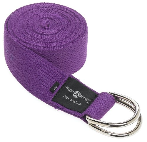 Hugger Mugger D-Ring Yoga Strap 10-Foot (Purple)