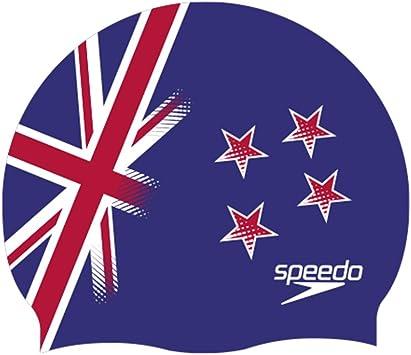 Speedo - Gorro de natación de Silicona Azul Nueva Zelanda ...