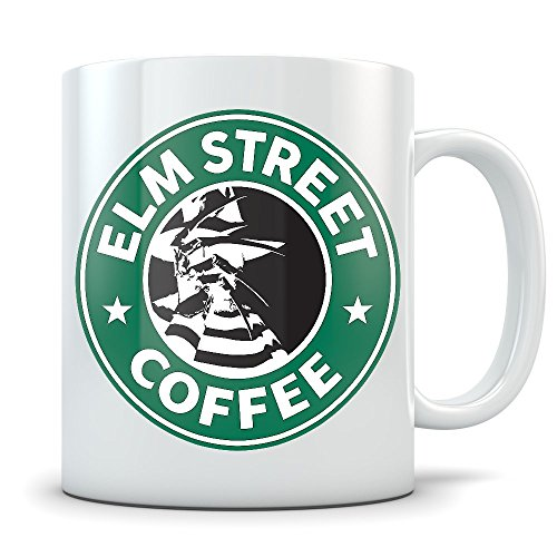 Freddy Kruger Coffee Mug   Nightmare On Elm Street Coffee Cup   Great Gift For Fans Of The Horror Movie   Funny Starbucks Parody