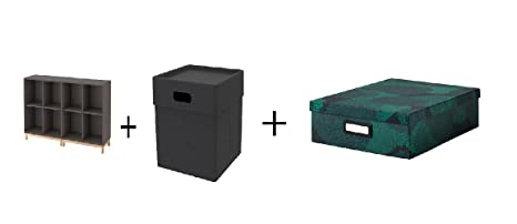 Ikea - Caja de Almacenamiento con Patas, Color Gris Oscuro, Gris ...